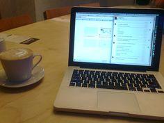 morning work in dinette, Skytower, Wrocław