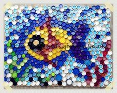 Under the sea by bottle lids