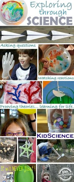 Love all these crazy fun, but easy science activities for kids