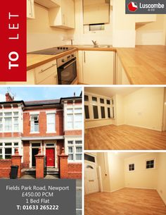 ‪#‎WowPropertyWednesday‬ 1 Bed Apartment on Fields Park Road in Newport !