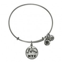 Alex and Ani Cupcake Expandable Wire Bangle Russian Silver