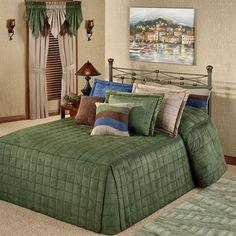 Camden Deep Sage Grande Oversized Fitted Bedspread Bedding