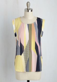 Modern Artful Top. The way your wardrobe combines colors and patterns sure is…