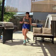 Disco Roller Skating, Quad Skates, Skater Girls, Woodworking Videos, Hot Wheels, Exercise, Yoga, Workout, Fitness