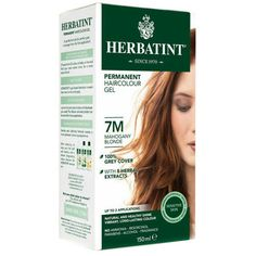 Herbatint Permanent Herbal Haircolour Gel Copper Blonde 135 mL, Brown Hair Color Without Ammonia, Herbatint Hair Color, Copper Blonde, Skin Shine, Natural Models, Permanent Hair Dye, Hair Color Shades, Bleach Blonde, Herbal Extracts