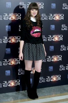 Hailee Steinfeld at the 'Enders Game' photocall. Styled by Kemal and Karla.