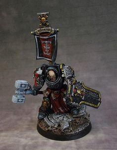 "Franck Ribault ""avalon"" peinture sur figurines le blog: capitaine deathwatch in terminator armour, comissi..."