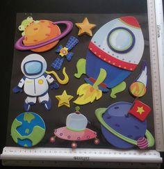 große XXL 3D-Sticker für die Schultüte - Astronaut von bastel-reni auf DaWanda.com