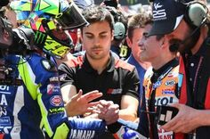 A handshake was exchanged between Marc Marquez and Valentino Rossi (Movistar Yamaha MotoGP) at the Catalan GP, sadly remembered for the passing of Luis Salom.