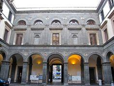 Palazzo Orsini di Gravina, Neaples, Italy; begun in 1513; designed by Gabriele d'Agnolo. The courtyard.