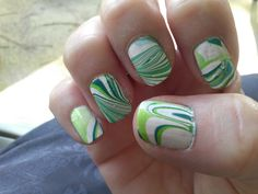 Green water marble