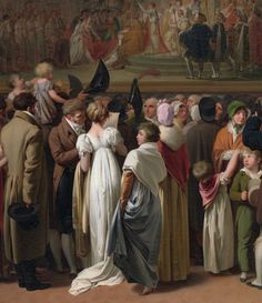 """The Public Viewing of David's Coronation at the Louvre"" (1810) (detail) by Louis Léopold Boilly (1761-1845)."
