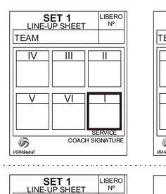 Volleyball Line Up Sheet Volleyball Coach Resources Volleyball