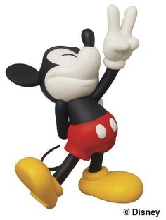 Amazon.com: Medicom Disney x Roen Collection Peace Sign Mickey Ultra Detail Figure: Toys & Games