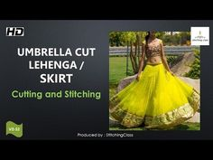 Umbrella cut skirt DIY | long skirt drafting, cutting and stitching step by step tutorial - YouTube