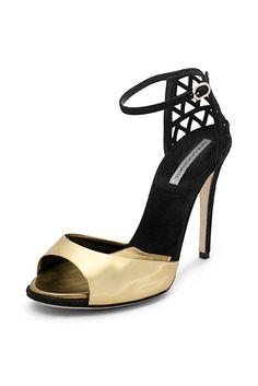 Rowan Peep Toe Heel In Gold