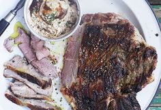Anjum Anand's spiced barbecue leg of lamb with tamarind and yoghurt