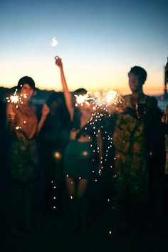 Sparklers at sunset. #FeelLiberated #SummerResolutions