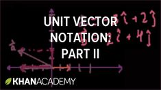 Unit vector notation (part 2) | Two-dimensional motion | Physics | Khan ...