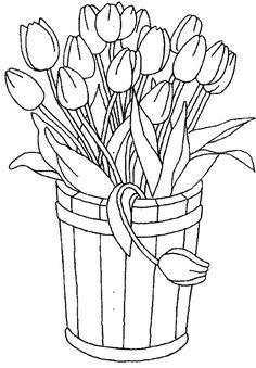 Шаблоны для творчества - Ваза с цветами. Подборка 2