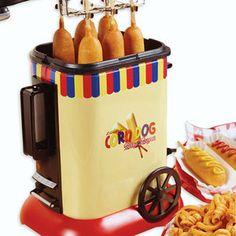 Nostalgia Electrics Old Fashioned Corn Dog Maker Cool Kitchen Gadgets, Small Kitchen Appliances, Kitchen Items, Cool Kitchens, Kitchen Tools, At Home Movie Theater, Home Theater Rooms, Corn Dogs, Corn Dog Maker