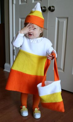 Diy Halloween Costumes for Kids - The Gardening Cook Oh my goodness! Just might have to make the candy corn one for Myka next year!