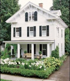 White House with Black Shutters