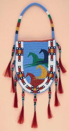 Native American Beaded Rosettes Eagle | Native American Art