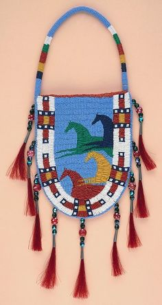 Native American Beaded Rosettes Eagle | Native American Art