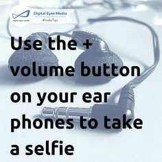 Use the + volume button on your earphones to take a selfie. #Hack