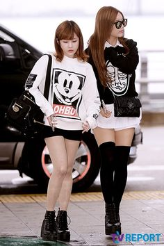 Black and white and Boram and Qri