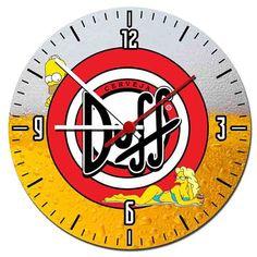 Relógio De Parede Cerveja Duff