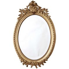 Antique Louis XVI Giltwood Mirror   www.inessa.com
