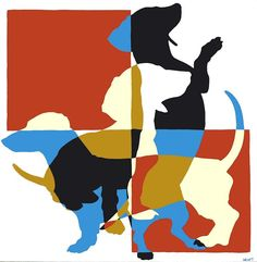 The Long and Short of it All: A Dachshund Dog News Magazine: Doxie ... art stencil silhouette
