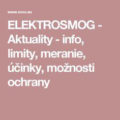 ELEKTROSMOG - Aktuality - info, limity, meranie, účinky, možnosti ochrany