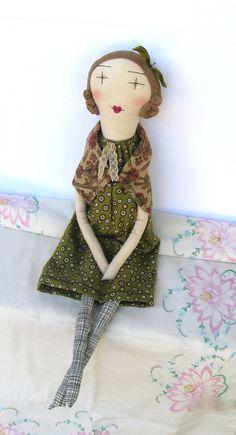 Juliette: Handmade Cloth Rag Doll - 24 Inch Soft Cloth Doll - Eco Friendly Organic Muslin Recycled & Vintage Textiles. $120.00, via Etsy.