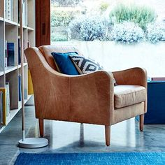 The Modbury chair will add a retro appeal to your living room.