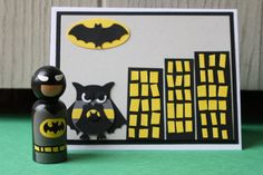 BAM, POW, WHAM and WOW someone with this superhero party set, that includes a superhero doll and card. This is a perfect party
