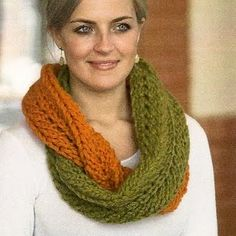 infinity scarf pattern - for when I learn to knit!