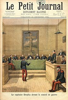 Alfred Dreyfus Trial (France, 19 December 1894) - The Dreyfus affair (French: l'affaire Dreyfus, pronounced: [la.fɛʁ dʁɛ.fys]) was a political scandal that divided France from its beginning in 1894 until it was finally resolved in 1906. The affair is often seen as a modern and universal symbol of injustice, and remains one of the most striking examples of a complex miscarriage of justice.