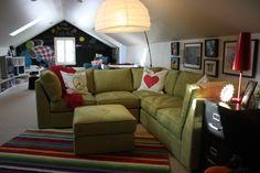 Barbour Spangle Design - sloped ceiling playroom