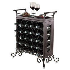 Winsome Silvano 25-Bottle Wine Rack