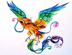 BTW that phoenix is really badly drawn, its body looks anorexic, and bird legs don't work that way. Description from forum.encyclopediadramatica.se. I searched for this on bing.com/images