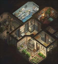 Content by JP Cummins Minecraft Architecture, Modern Architecture House, Bunker Home, Sims House Plans, Sims House Design, Anime City, Sims Building, Watercolor Architecture, Isometric Art