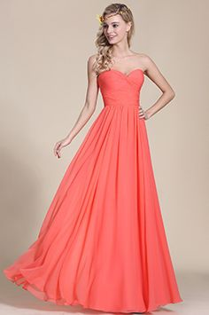 $60 eDressit Strapless Sweetheart Coral Bridesmaid Dress (07154457)