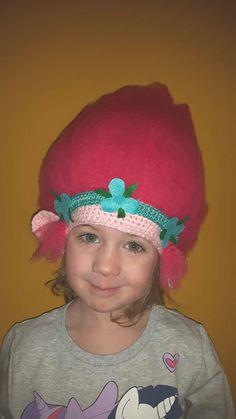 Verkleden: haakpatroon Prinses Poppy muts/pruik. gratis nederlands patroon. kreanimo.be #blogfeestje