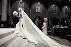 I love the angle this photo was shot; It shows how gorgeous the veil is!