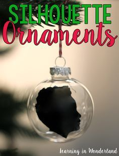Learning in Wonderland Silhouette Ornament Tutorial Student Christmas Gifts, Christmas Gifts For Parents, Christmas Ornaments To Make, Perfect Christmas Gifts, Student Gifts, Gifts For Kids, Christmas Crafts, Christmas Ideas, Christmas Decorations