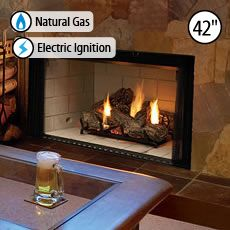 Lennox LMBV-42REN Natural, Electronic Ignition 42 MERIT™ B-VENT GAS FIREPLACES, FRONT VIEW, RADIANT - H5129
