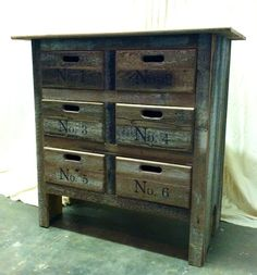 Cool dresser made from repurposed wood-siding.